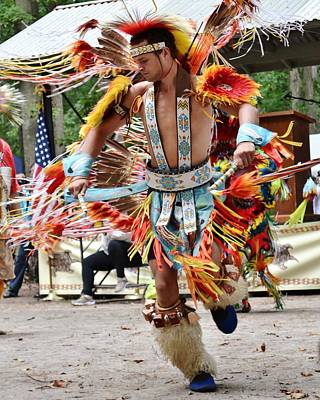 Photograph - Native American Dance - Nanticoke Powwow by Kim Bemis