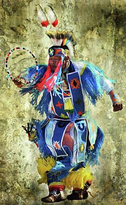 Native American Dancer Art Print by Barbara Manis