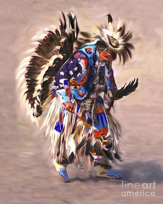 Native American Dancer Art Print by Clare VanderVeen