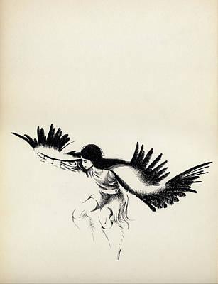 Drawing - Native American Dancer by Mamoun Sakkal