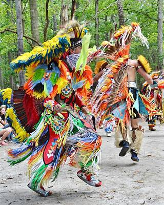 Photograph - Native American Dancers - Nanticoke Powwow by Kim Bemis