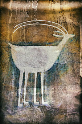 Photograph - Native American Deer Pictograph by Jo Ann Tomaselli