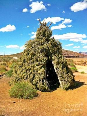 Native American Desert Cedar Lodge Print by John Malone