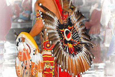 Photograph - Native American Feather Bustle by Dyle   Warren