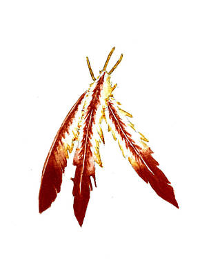 Feather Art Painting - Native American Feathers  by Michael Vigliotti