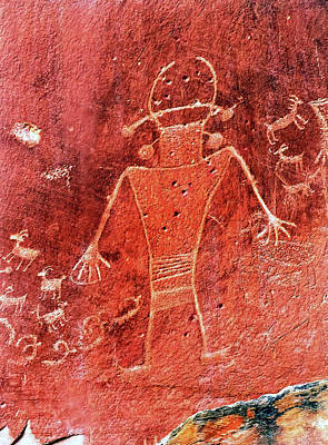 Native American Fremont Petroglyphs Art Print