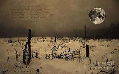 Photograph - Native American Full Moon Treat The Earth Well by John Stephens