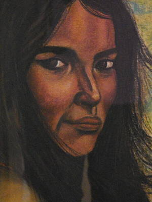Indian Maiden Painting - Native American Girl by Laurie Kidd