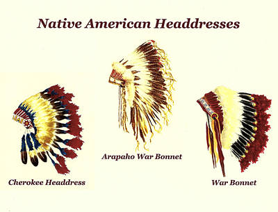Personalized Name License Plates - Native American Headdresses Number 2 by Michael Vigliotti