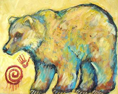 Grizzly Painting - Native American Indian Bear by Carol Suzanne Niebuhr