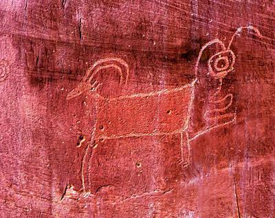 Native American Indian Fremont Sheep Art Print