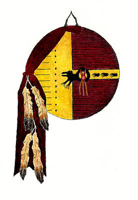 Native American Medicine Bear Shield Art Print by Michael Vigliotti