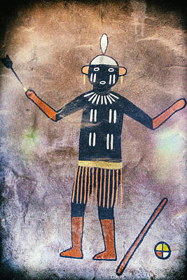 Photograph - Native American Medicine Man Pictograph by Jo Ann Tomaselli