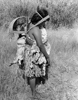 Indigenous Culture Photograph - Native American Mother And Baby by Underwood Archives Onia