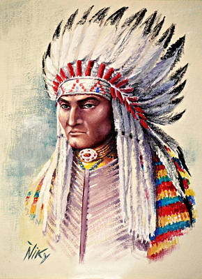 Navaho Painting - Native American by Niky Parks