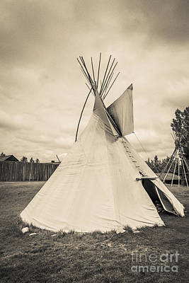 Photograph - Native American Plains Indian Tipi Tepee Teepee by Edward Fielding