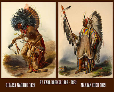 Indian Chief Digital Art - Native American Poster by Karl Bodmer
