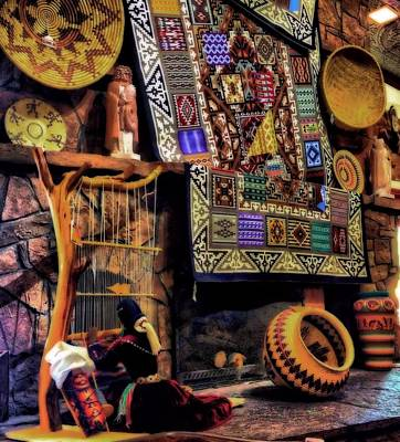 Quilt Art Photograph - Native American Pottery And Crafts by Dan Sproul