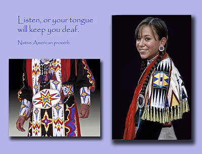 Native American Proverb Print by Dave Mills