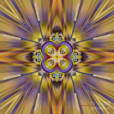 Kaleidoscope Digital Art - Native American Spirit by Deborah Benoit