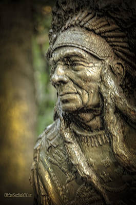 Photograph - Native American Statue At Niagara Falls State Park by LeeAnn McLaneGoetz McLaneGoetzStudioLLCcom