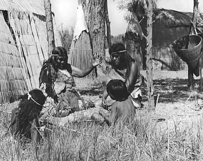 Photograph - Native American Story Telling by Underwood Archives Onia