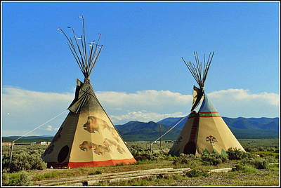 Native American Teepees  Art Print