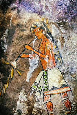 Photograph - Native American Tribal Headdress Pictograph by Jo Ann Tomaselli