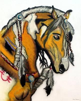 Indian Tribal Art Painting - Native American War Horse 1 by Ayasha Loya
