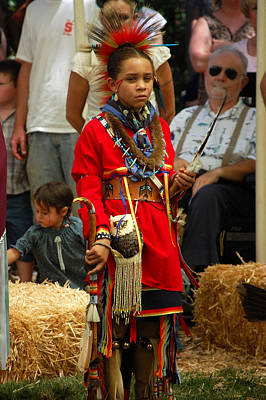 Photograph - Native American Youth Dancer by Holly Blunkall