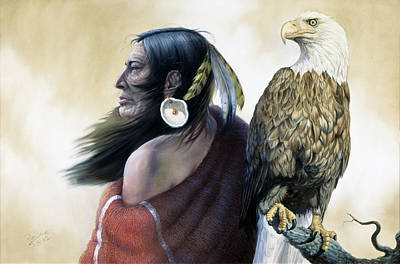 Indian Fine Art Painting - Native Americans by Gregory Perillo