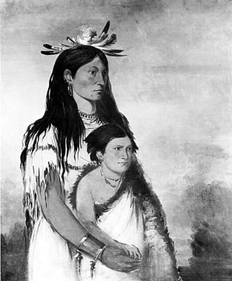 American Indian Children Painting - Native Americans Kiowas, 1834 by Granger