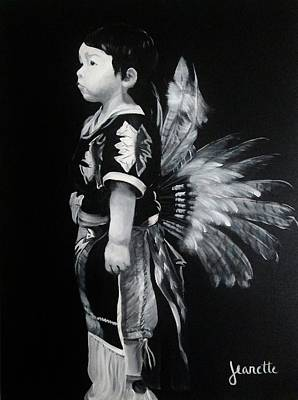Painting - Native Boy by Jeanette Fellows