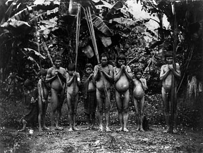 Native American Nude Photograph - Native Brazilians by Granger