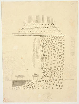 Indian Ink Photograph - Native Building by British Library
