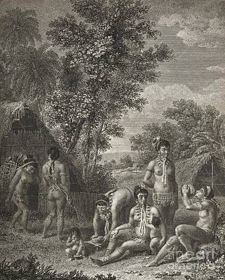 Native Caribbean Family, 18th Century Art Print by British Library