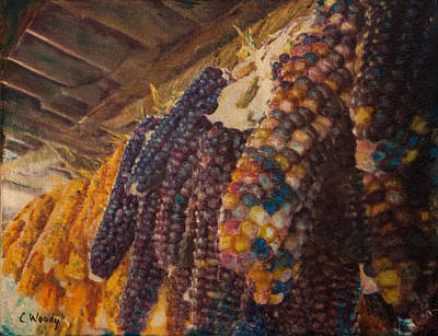 Mixed Media - Native Corn Offerings by Carla Woody
