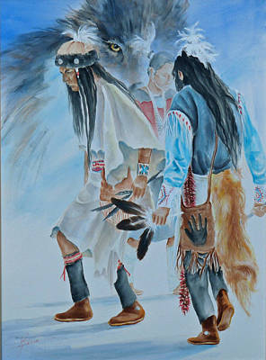 Native Dancers  Art Print by Gracia  Molloy