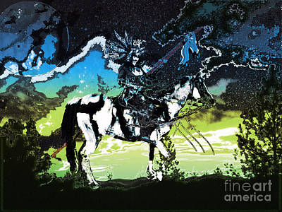 Digital Art - Native Dream by Asegia