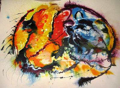 Canadian Culture Painting - Native Earth by Christine Andreopoulos