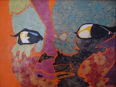 Drawing - Native Eyes by Glenn Calloway
