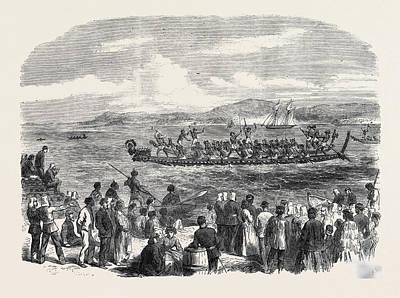 Native Games At Te Papa Camp Tauranga New Zealand War Art Print