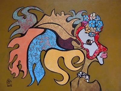 Painting - Native Head Dress by Glenn Calloway