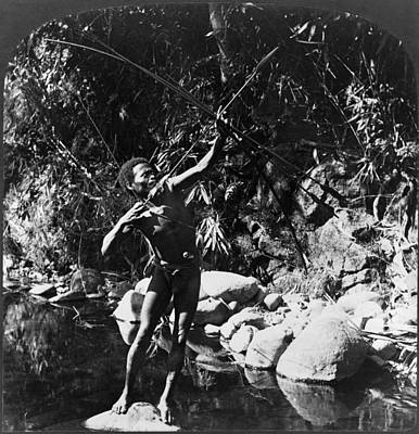 Loincloth Painting - Native Hunter, C1907 by Granger
