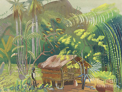 Native Painting - Native Hut Brazil by Celestial Images