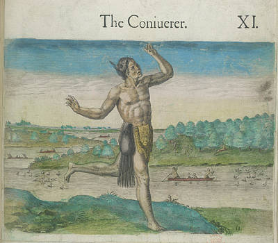 Theodor De Bry Photograph - Native Indian Conjurer by British Library