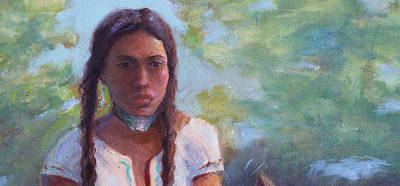 Painting - Native Maiden by Gwen Carroll
