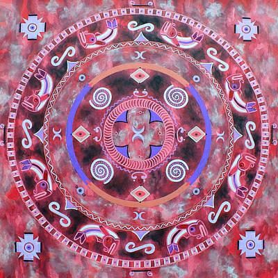 Native Mandala Art Print by Vlatka Kelc