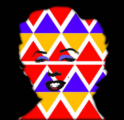 Digital Art - Native Marilyn by Charles Stuart