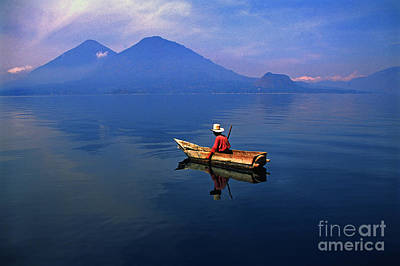 Native Mayan Fisherman On Lake Atitlan Art Print by Thomas R Fletcher